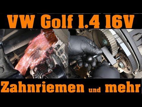 VW 1.4 16V - Zahnriemenwechsel, Wasserpumpe und alle Umlenkrollen bzw. Spannrollen. 🔧🙆 🔧