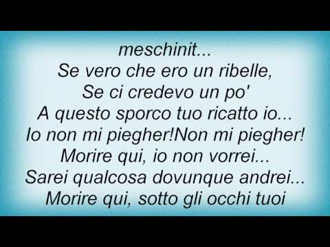 Renato Zero - Morire Qui Lyrics