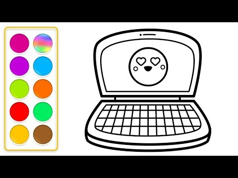 How to Draw and Color Desktop Computer Coloring Pages for Toddlers