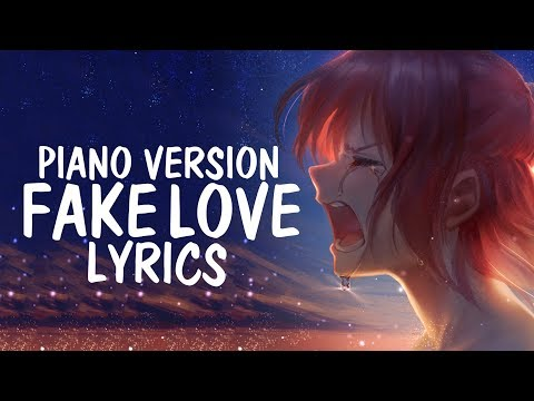 Nightcore - FAKE LOVE (English Cover / Piano / Female) BTS (방탄소년단) || Lyrics