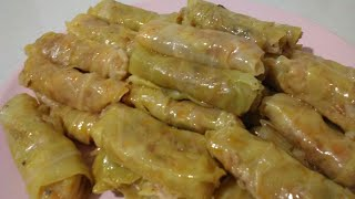 Cabbage Rolls recipe, easy  to follow, tasty, vegan,healty