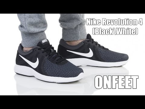 """Nike Revolution 4 """"Black White"""" Onfeet Review 