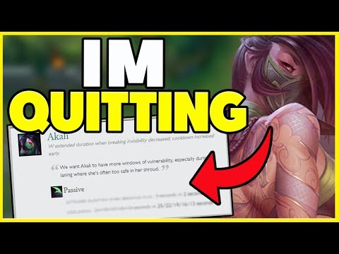 RIOT HAS OFFICIALLY KILLED AKALI (I QUIT) - League of Legends
