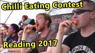 This weekends Chilli Eating Contest at Reading Chilli Festival!
