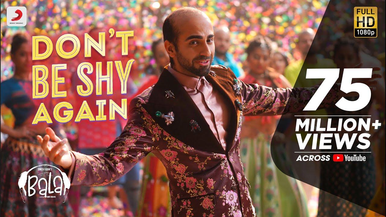 डोंट बी शाय - Don't Be Shy Again Lyrics in Hindi - Bala - Badshah