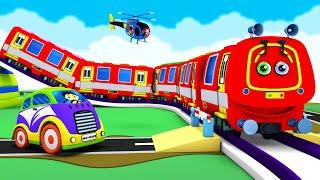 Red Caterpillar Thomas Cartoon Train: Choo Choo Toy Factory Cartoon Train Videos