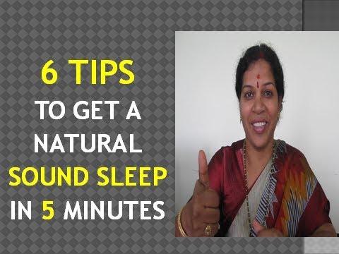 NATURAL WAYS TO GET SOUND SLEEP IN 5 MINUTES