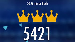 Piano Tiles 2 - G Minor Bach 5421 score with bad revives, LEGENDARY World Record!