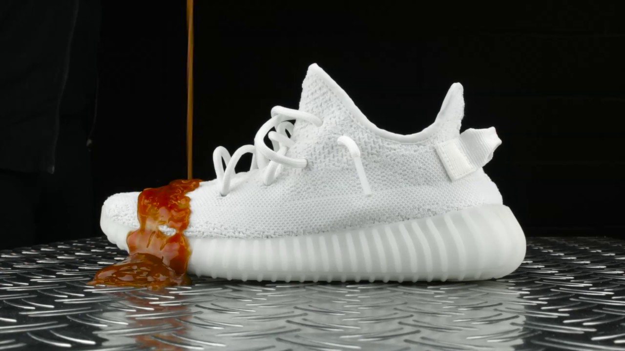 f59c143e3e86c Video Yeezy Boost 350 V2 Cream White Ketchup and Coke Test - Crep Protect