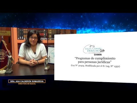 Programa 103 - Programas de cumplimiento para personas jurídicas - Luces Cámara Derecho