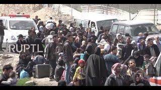Syria: 4,000 civilians evacuated from E. Ghouta via Hamouriyah humanitarian corridor