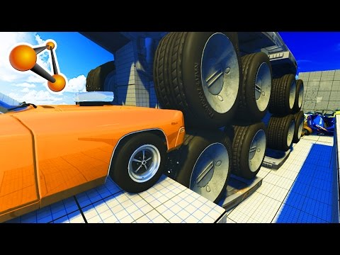 Giant Crashes Machines - Epic Crash Test - BeamNG Drive