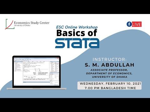 ESC Online Workshop: Basics of STATA Episode 1