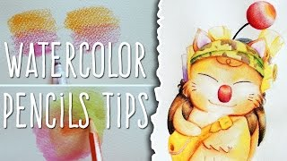 How to use WATERCOLOR PENCILS: TIPS + STILZKIN Speed Painting