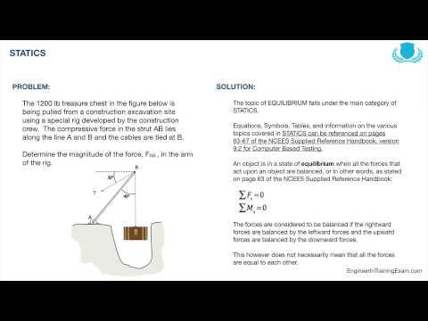 FE Exam Practice Problem - Statics - YouTube