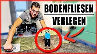 BODENFLIESEN VERLEGEN | Große FEINSTEINZEUG Fliesen verlegen! | Home Build Solution