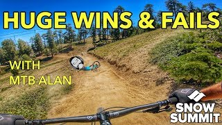 Pushing The Limits = More Crashes At Snow Summit Bike Park | Mountain Biking Big Bear, California