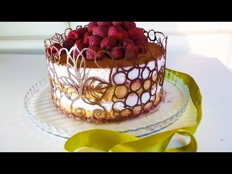Малиновый тирамису.Торт без кофе и белков.