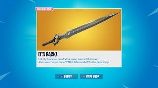THE SWORD IS COMING BACK! NEW INFINITY BLADE MASSIVE NERF UPDATE! FORTNITE BATTLE ROYALE NEW UPDATE
