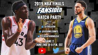 2019 NBA Finals:  Golden State Warriors vs. Toronto Raptors (Game 2)