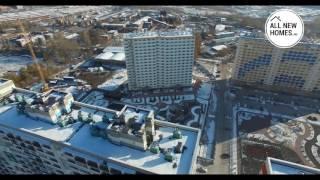 Жилой комплекс на Фадеева Новосибирск. Вид с воздуха. Allnewhomes.ru