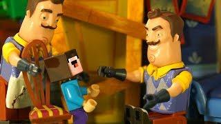 Лего ПРИВЕТ СОСЕД vs Nintendo Switch - Лего НУБик Майнкрафт Мультики - LEGO Minecraft Мультфильмы