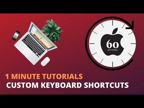 Create Custom Mac Keyboard Shortcuts - 1 Minute Tutorials