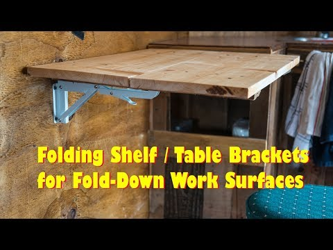 Folding Table - Brackets - Flip Up Wall Mount - EASY DIY - Love These!