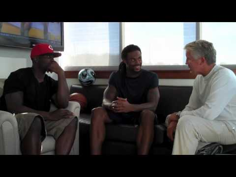 Tarvaris Jackson and Sidney Rice - interviewed by Pete Carroll