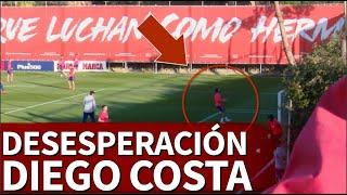 Le desesperación de Diego Costa en el entrenamiento | Diario As