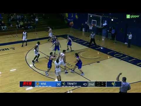 9277fdcf64d3 Trinity Men s Basketball v. WNE Highlights ~ 12 31 18 - Trinity