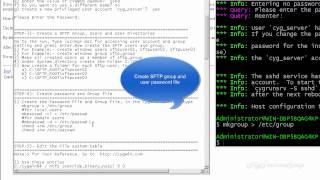 How to build SFTP Server on windows server using Cygwin DLL (OpenSSH)
