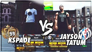 OMG NBA Rookie Jayson Tatum Pulled Up | NBA 2K18 Playground | Teaching the No 1 Rule