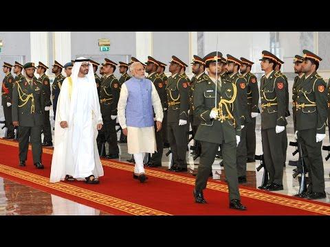 PM Narendra Modi receives ceremonial welcome at Abu Dhabi | PMO