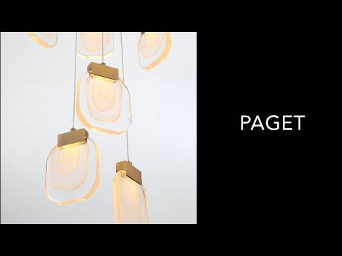 Video for Paget Gold 31-Light LED Pendant