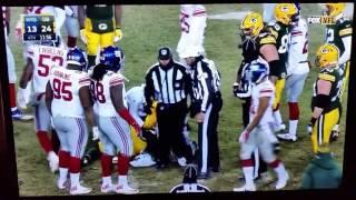 Ty Montgomery #88 gain/injury Packers