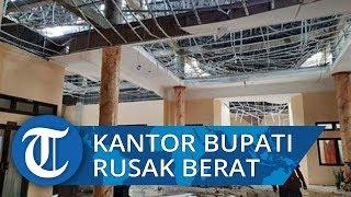 Atap Kantor Bupati Sumba Tengah Rusak Berat Diterpa Angin Kencang