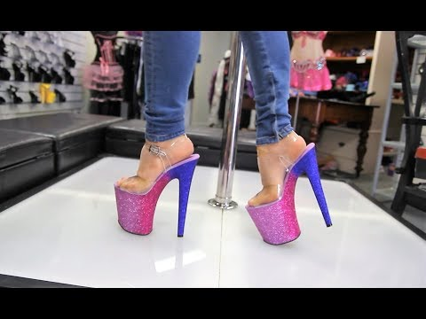 Review Pleaser Xtreme 808 OMBRE 8 Inch Glitter Stiletto High Heels