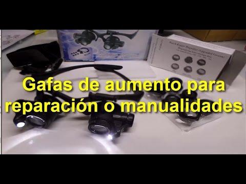 Gafas de aumento para reparación electronica o manualidades
