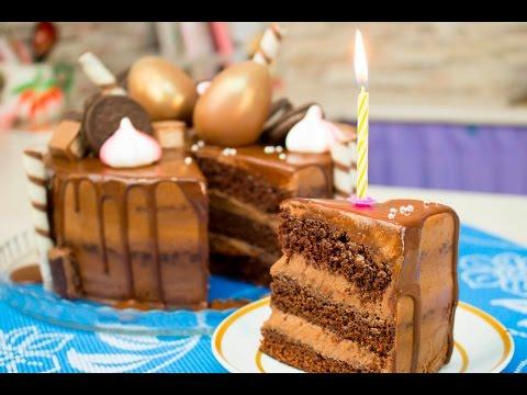 """Как приготовить мега шоколадный торт """"Моя Прага"""" на день рождения"""