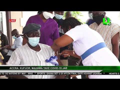 Accra: Kufuor, Mahama Take Covid-19 Jab