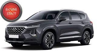 Hyundai Santa Fe  (2019 & newer), Palisade with a dead key fob:  Get in, start keyless start models.