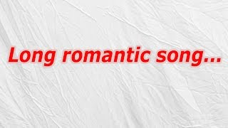 Long Romantic Song (CodyCross Crossword Answer)