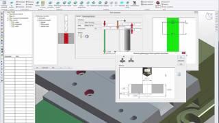 Bohrungsassistent im CAD/CAM-System vectorcam