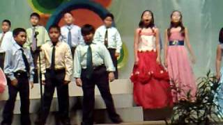 """Us singing """"I WILL""""...in our school foundation"""
