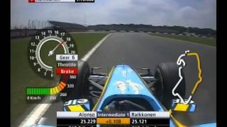 F1 British GP Silverstone 2005 - Qualifying - Kimi Raikkonen vs Fernando Alonso