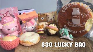 $30 Squishy Shop Lucky Bag Grab Bag Sept 2018 | Toy Tiny