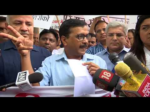 Delhi CM Arvind Kejriwal Briefs Media While Leaving for LG's House regarding Women Security