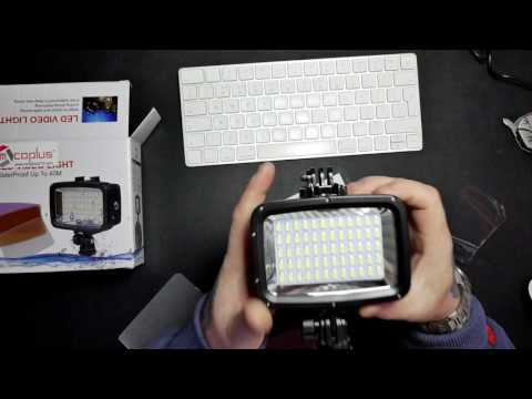 TechChecker #152 Mcoplus 60pcs 1800LM Underwater 40m Diving Lamp Waterproof Video LED
