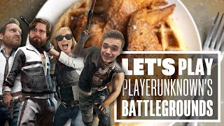 Let's Play PUBG gameplay with Aoife, Chris, Ian and Johnny - CHICKEN AND WAFFLES?!